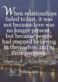 Why some relationships don't last