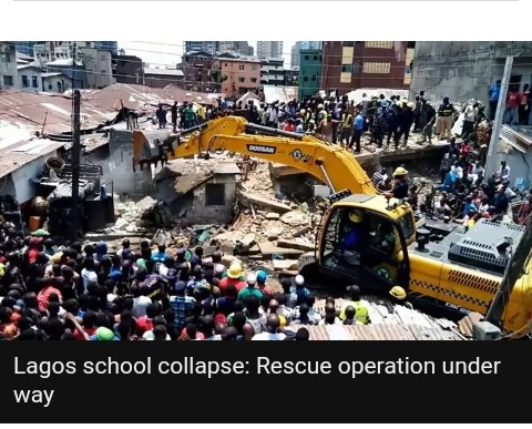 School building collapsed in Lagos