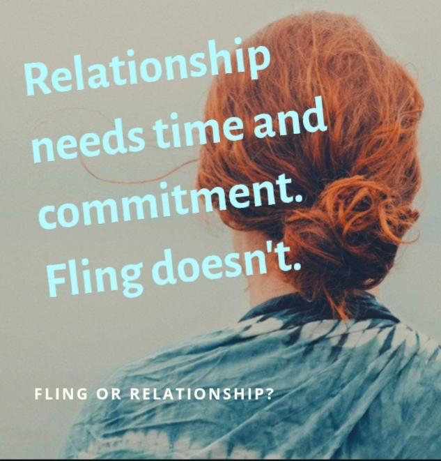 Differences between fling and relationship