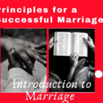 Principles for a successful marriage